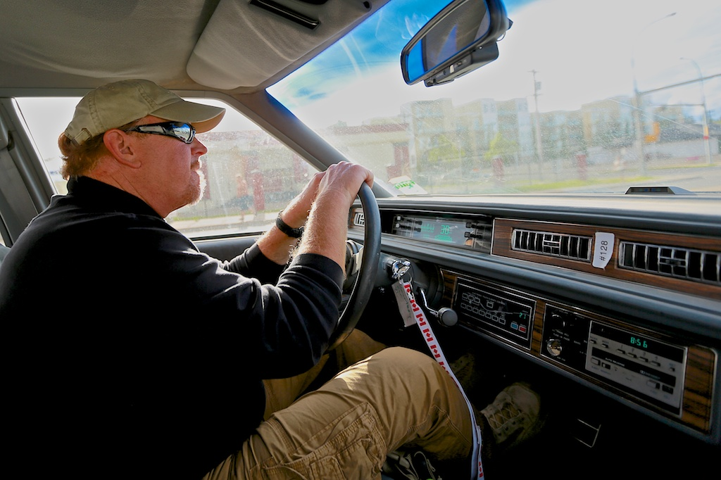 """Mark driving """"the beater""""  :-)  I think he secretly loved it!"""